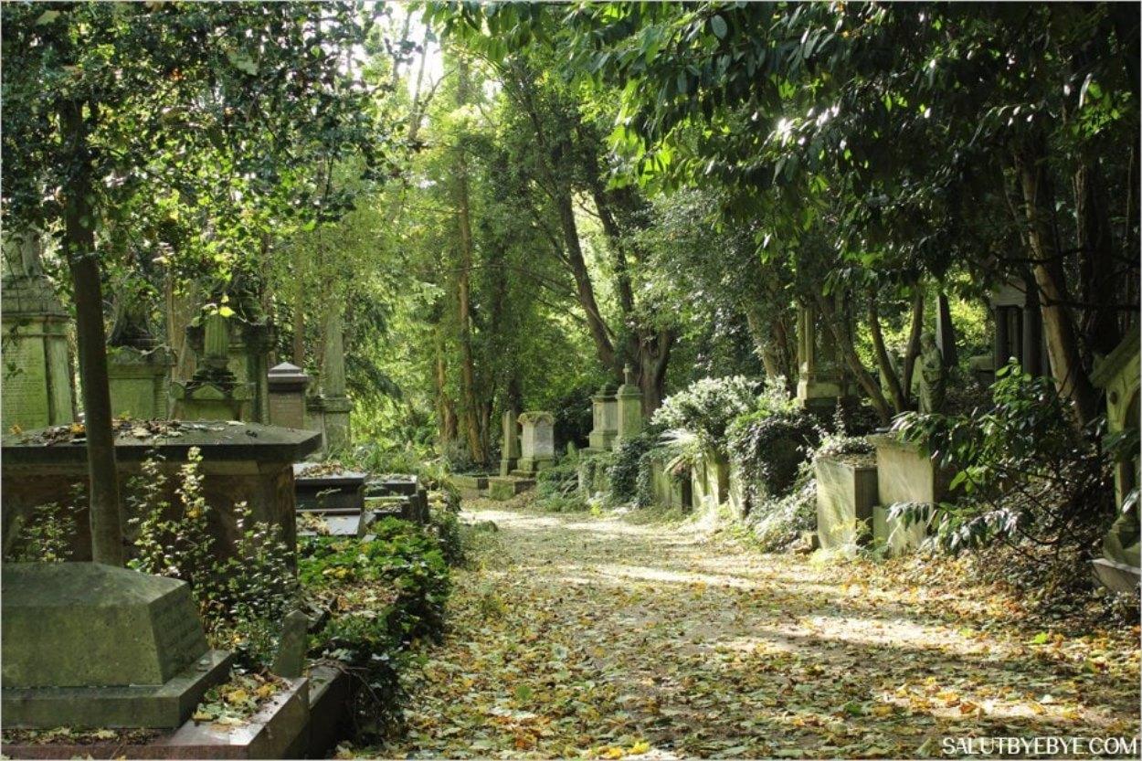 Les allées de Highgate Cemetery