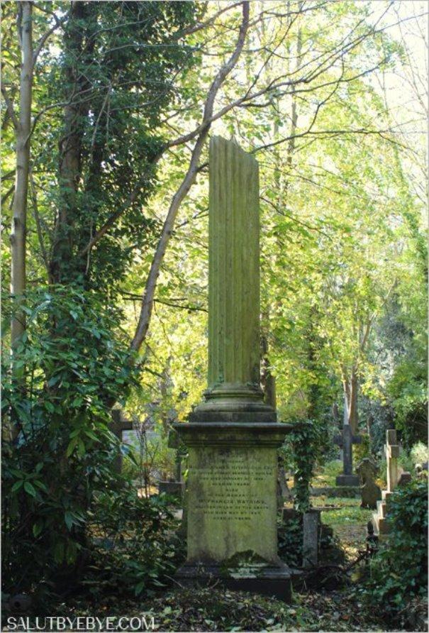 Colonne funéraire à Highgate Cemetery à Londres