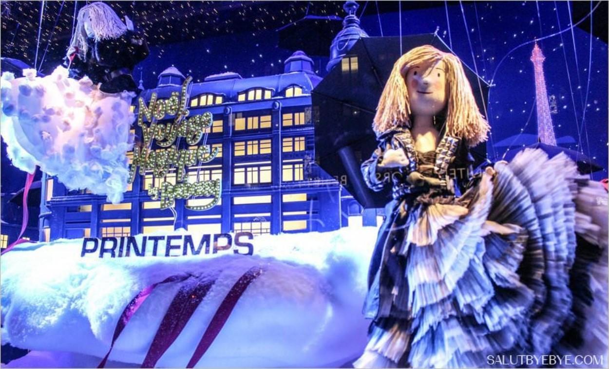 Vitrine de Noël à Paris - Le Printemps