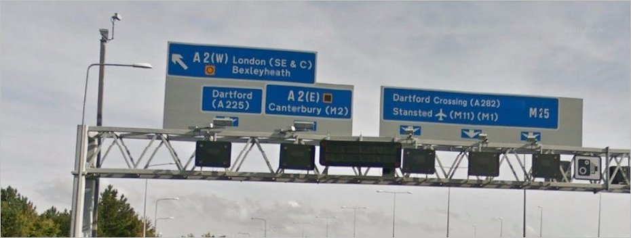 Douvres Londres - Route A2
