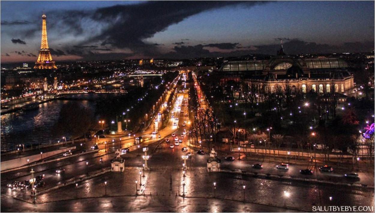 La Tour Eiffel depuis la Grande Roue de la place de la Concorde