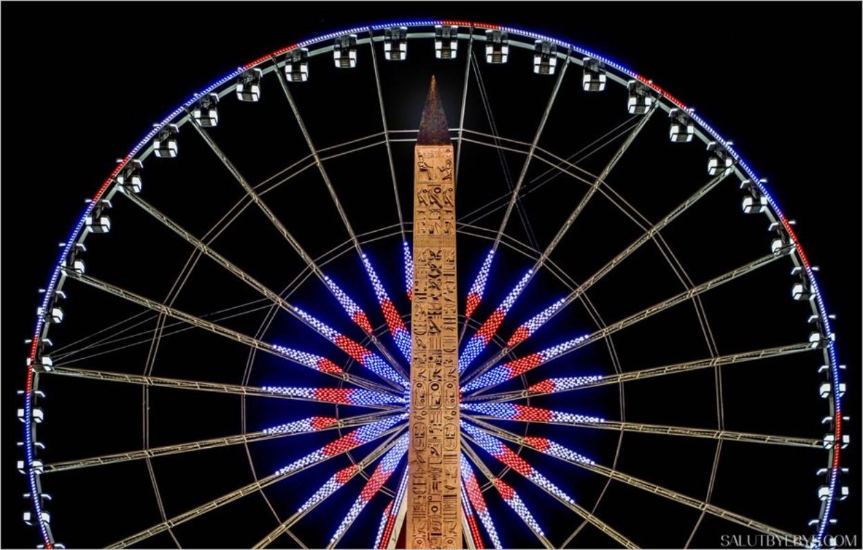 La Grande Roue de Paris et l'obélisque de la Concorde