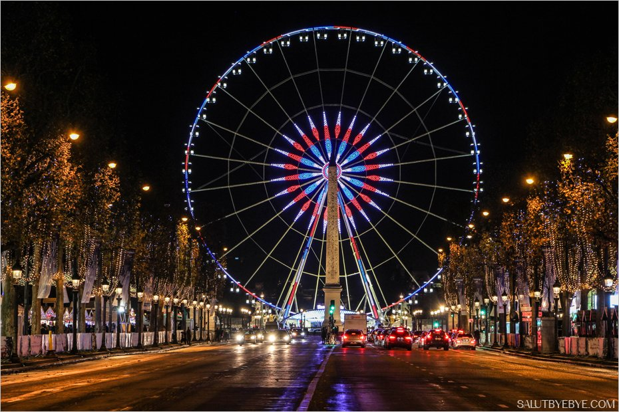 La Grande Roue de Paris vue depuis les Champs-Elysées