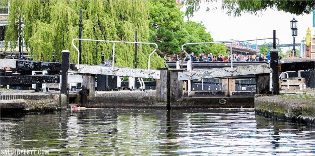 Arrivée à Camden Lock