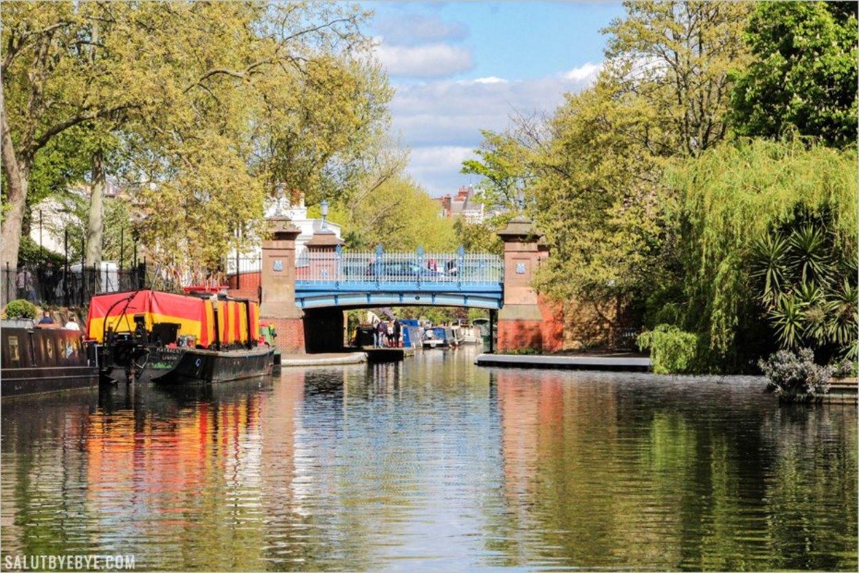 Le Regent's Canal au niveau du Lagon