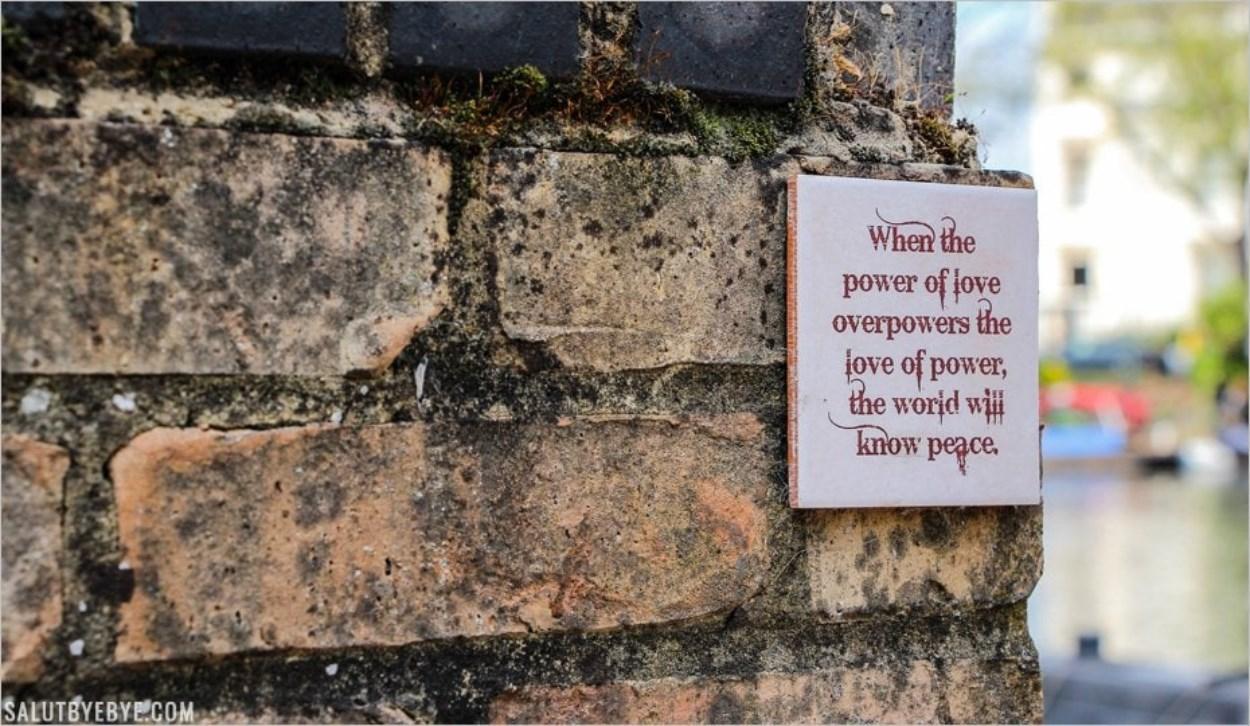 Un message à Little Venice, Londres