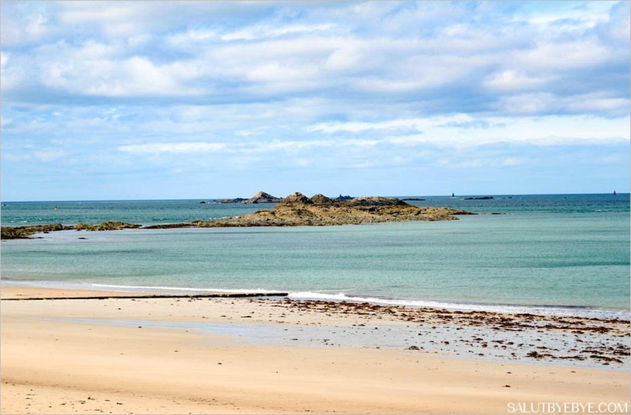 La mer à Dinard en Bretagne