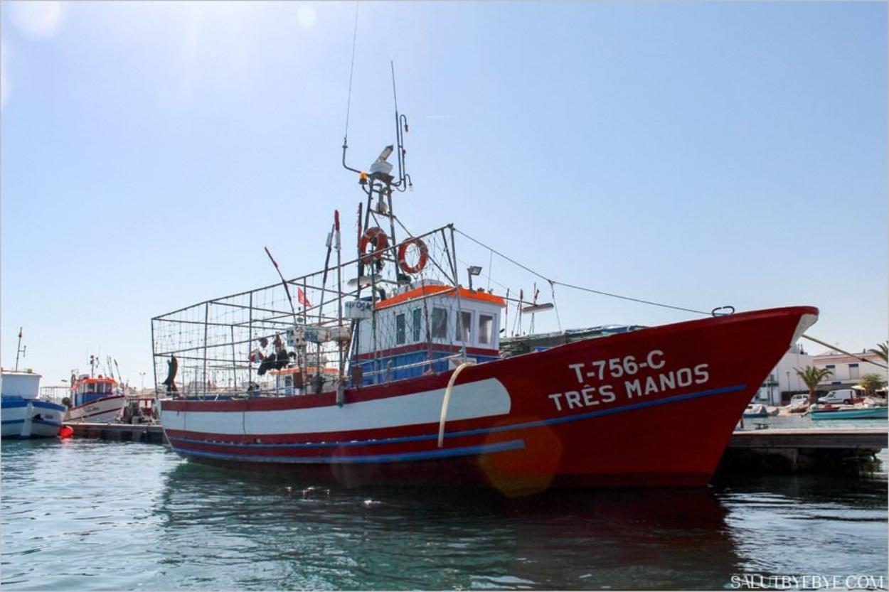 Bateau pour la pêche au poulpe