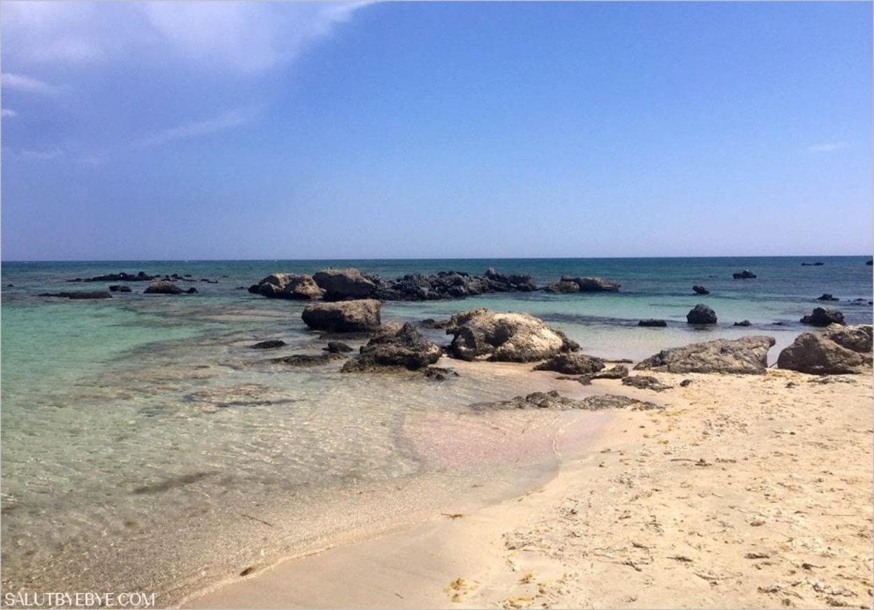 Baignade en Crète