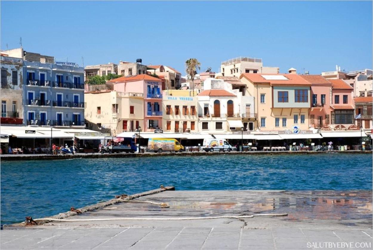 Le port de La Canée (Chania), Crète