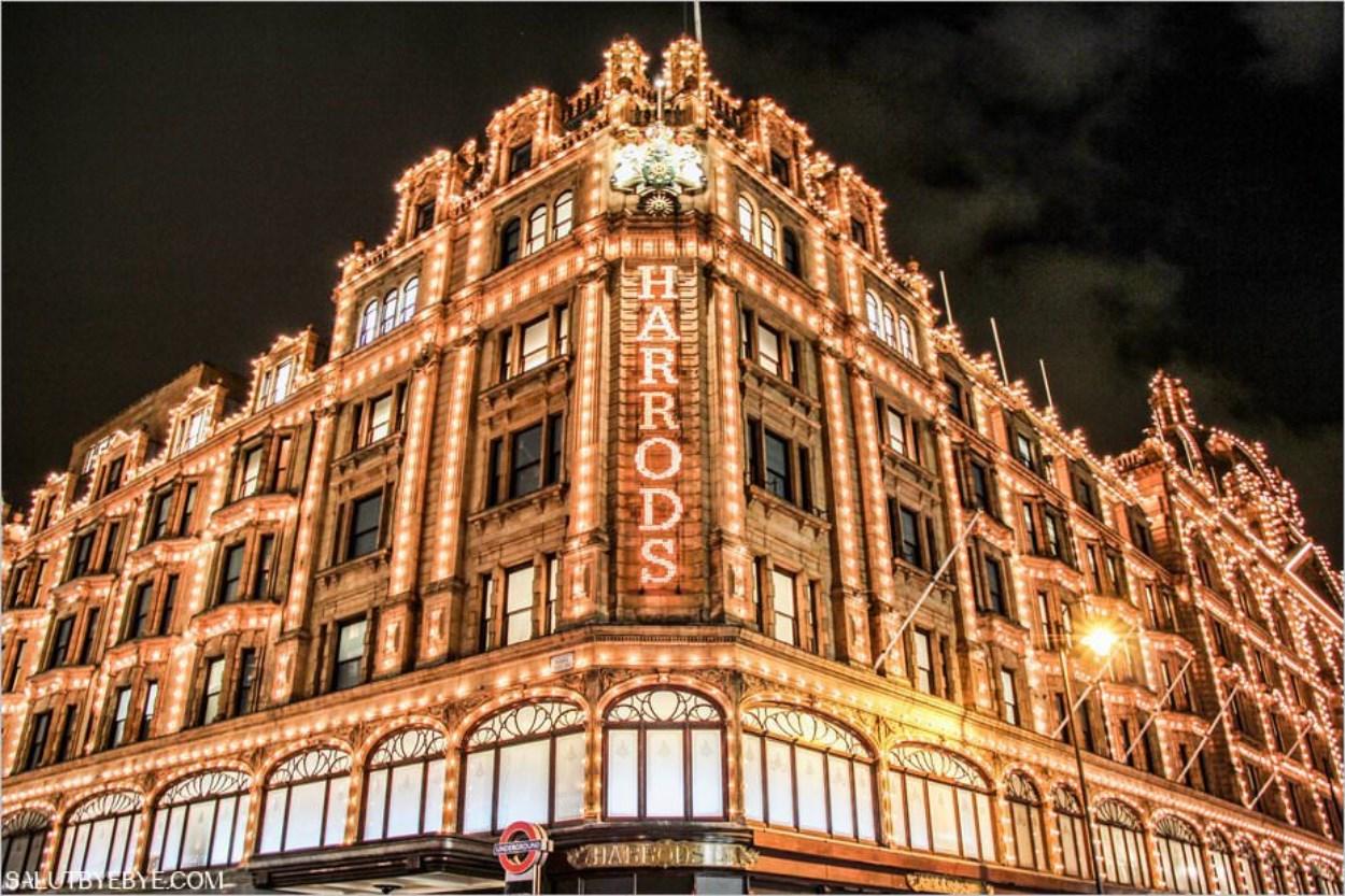 Décorations de Noël à Londres - Harrods