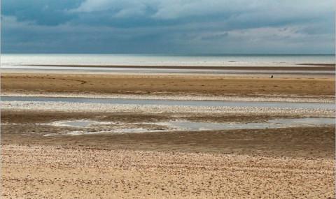 Camber Sands, près de Rye dans l'East Sussex : plage à perte de vue