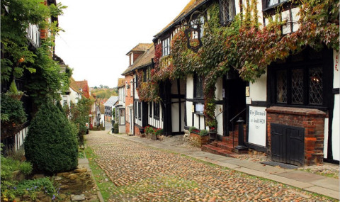 Le village de Rye, Sussex, et la plus jolie rue d'Angleterre
