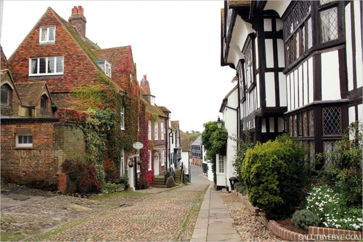 Mermaid Street dans la ville de Rye, en Angleterre