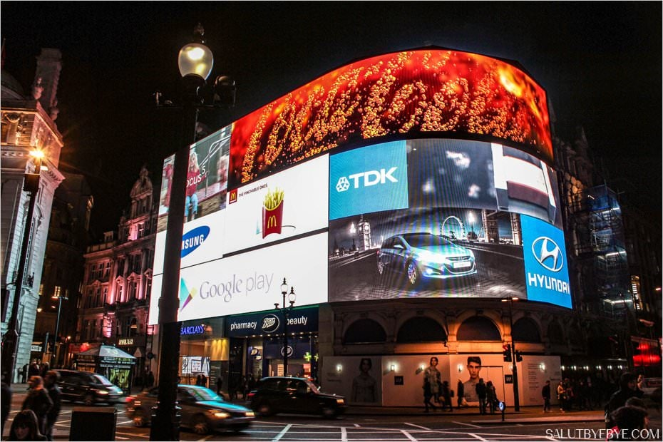 Piccadilly Circus à Londres