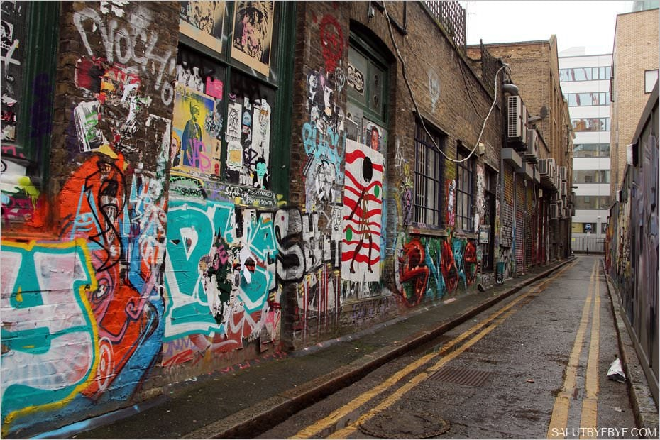 Le quartier de Shoreditch à Londres : street art dans les rues