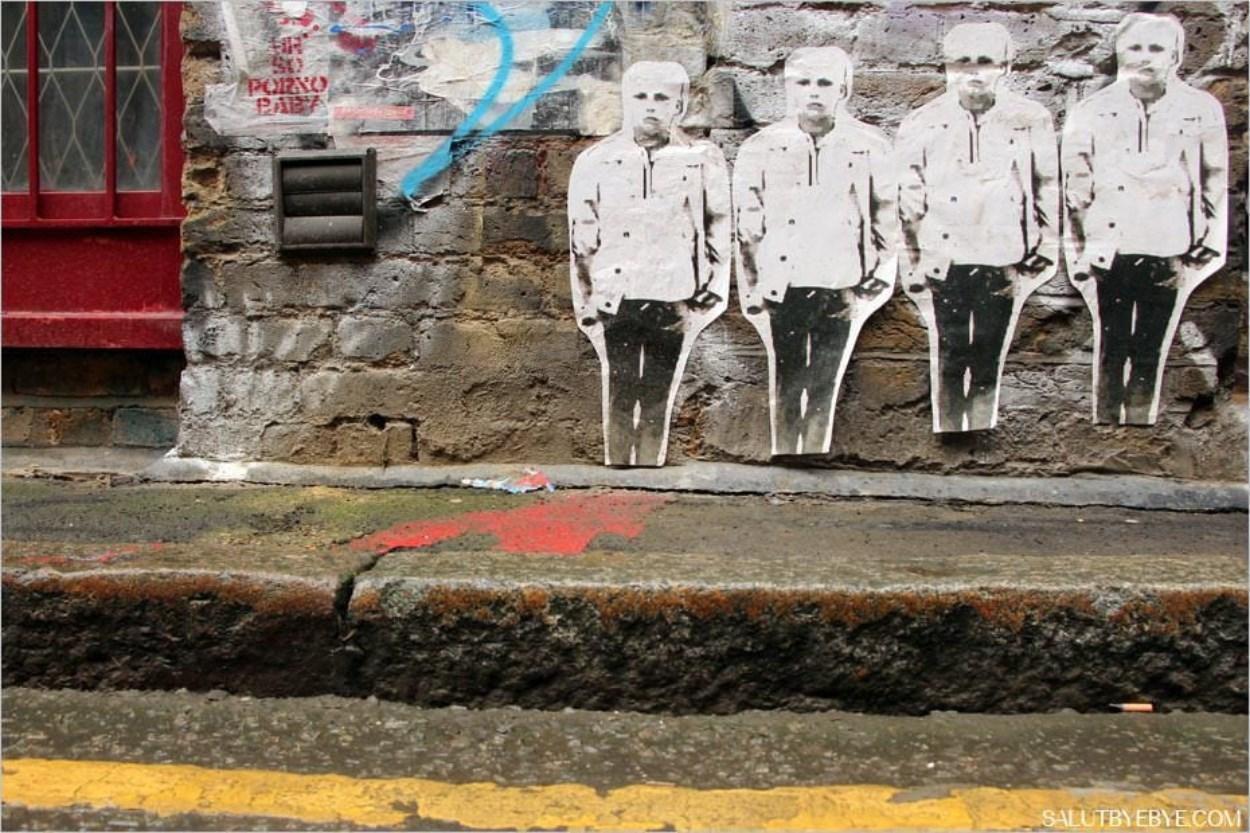 Street art dans le quartier de Shoreditch