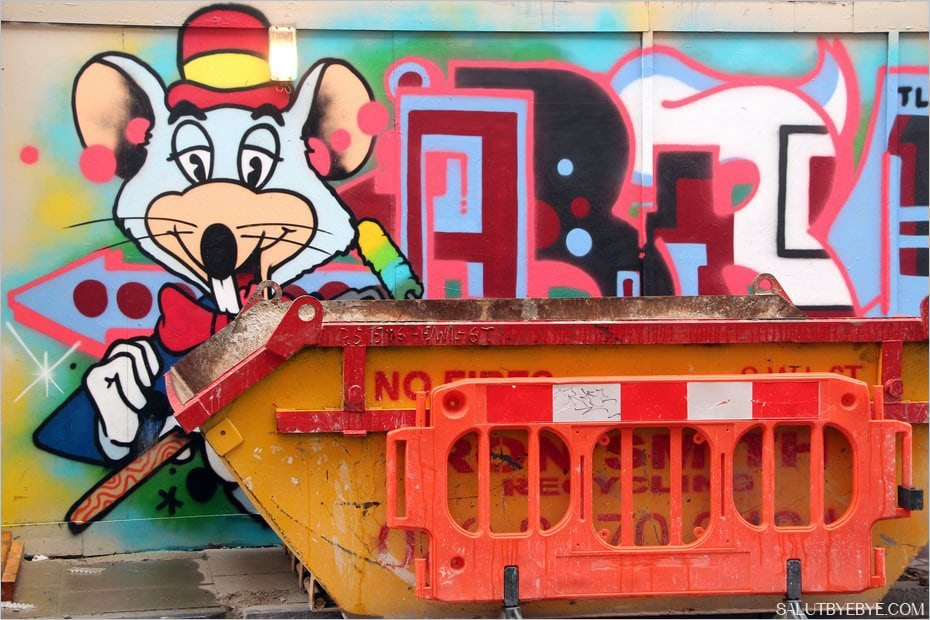 Travaux à Shoreditch : un chantier relooké par le street art