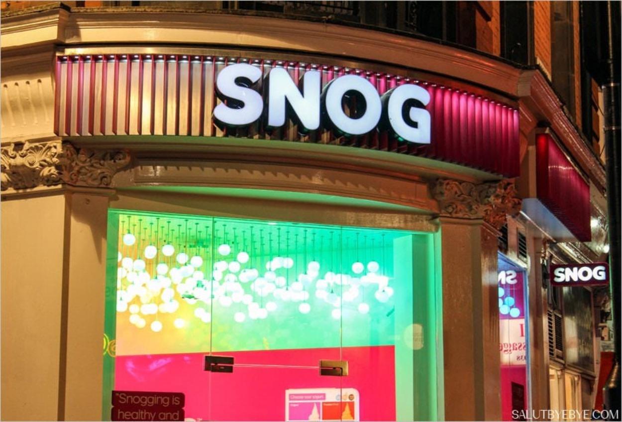 Snog Soho, une enseigne de yaourts glacés