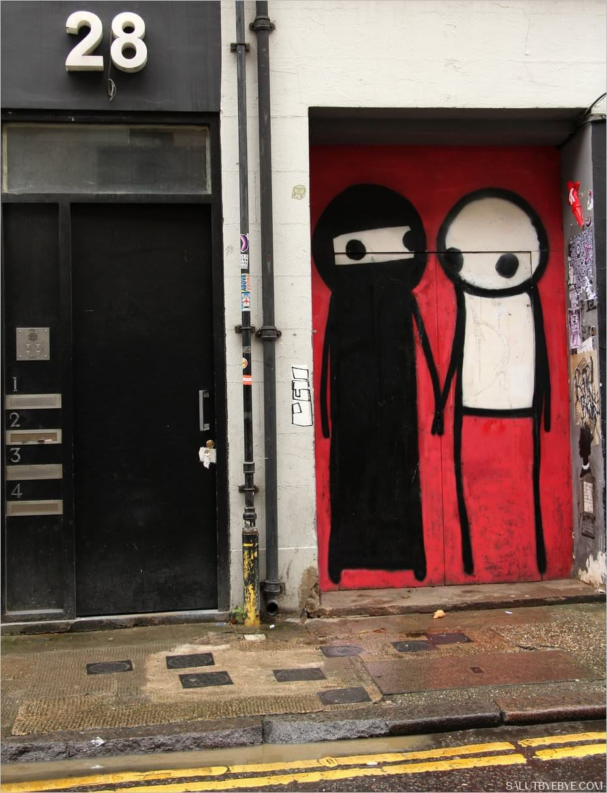 Street art sur Princelet Street, Londres
