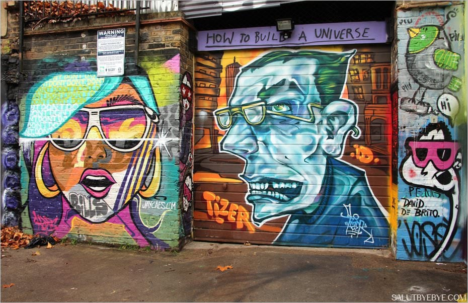 Street art à Brick Lane, Londres