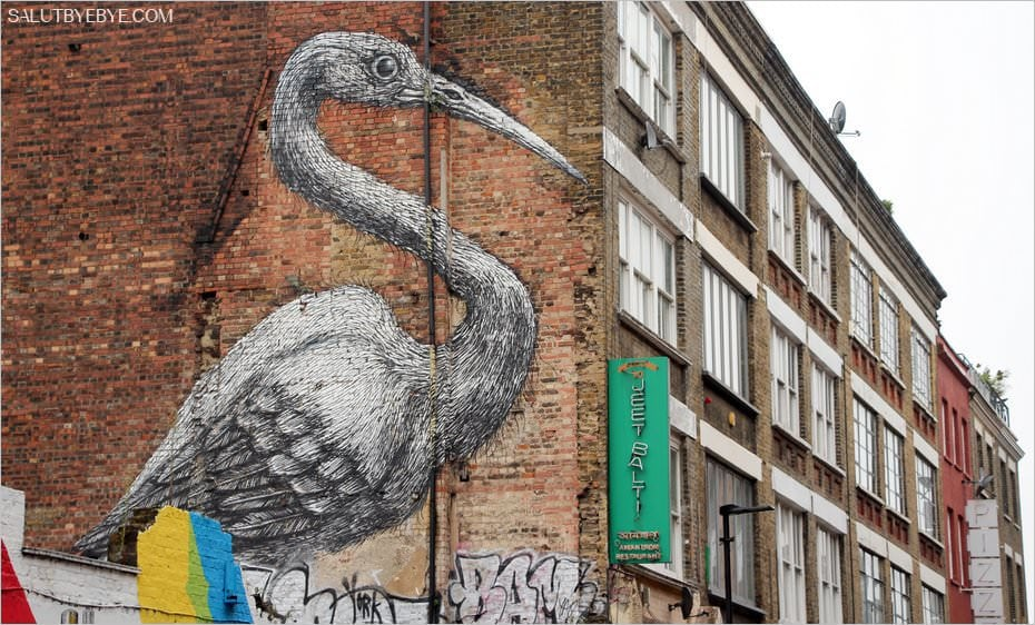 Street art : une oeuvre de Roa à Shoreditch, Londres