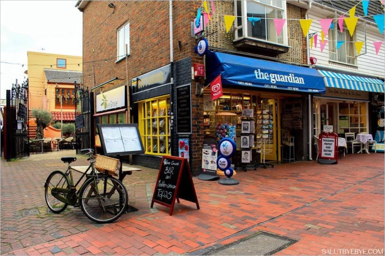 Quartier des Lanes à Brighton