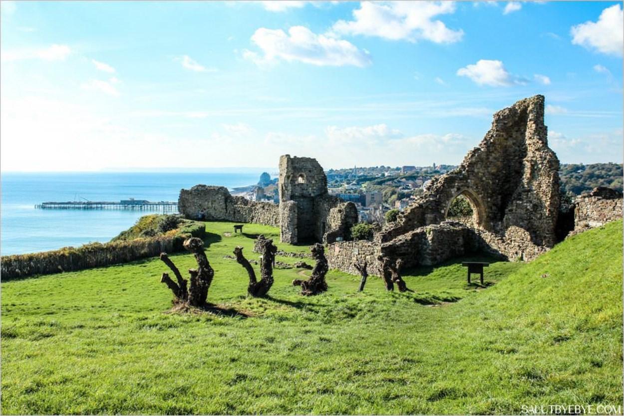 Le château d'Hastings en Angleterre