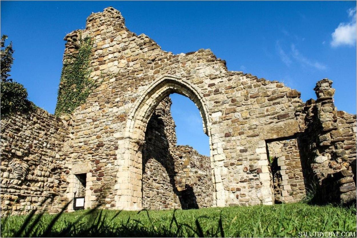 Ruines du château d'Hastings en Angleterre