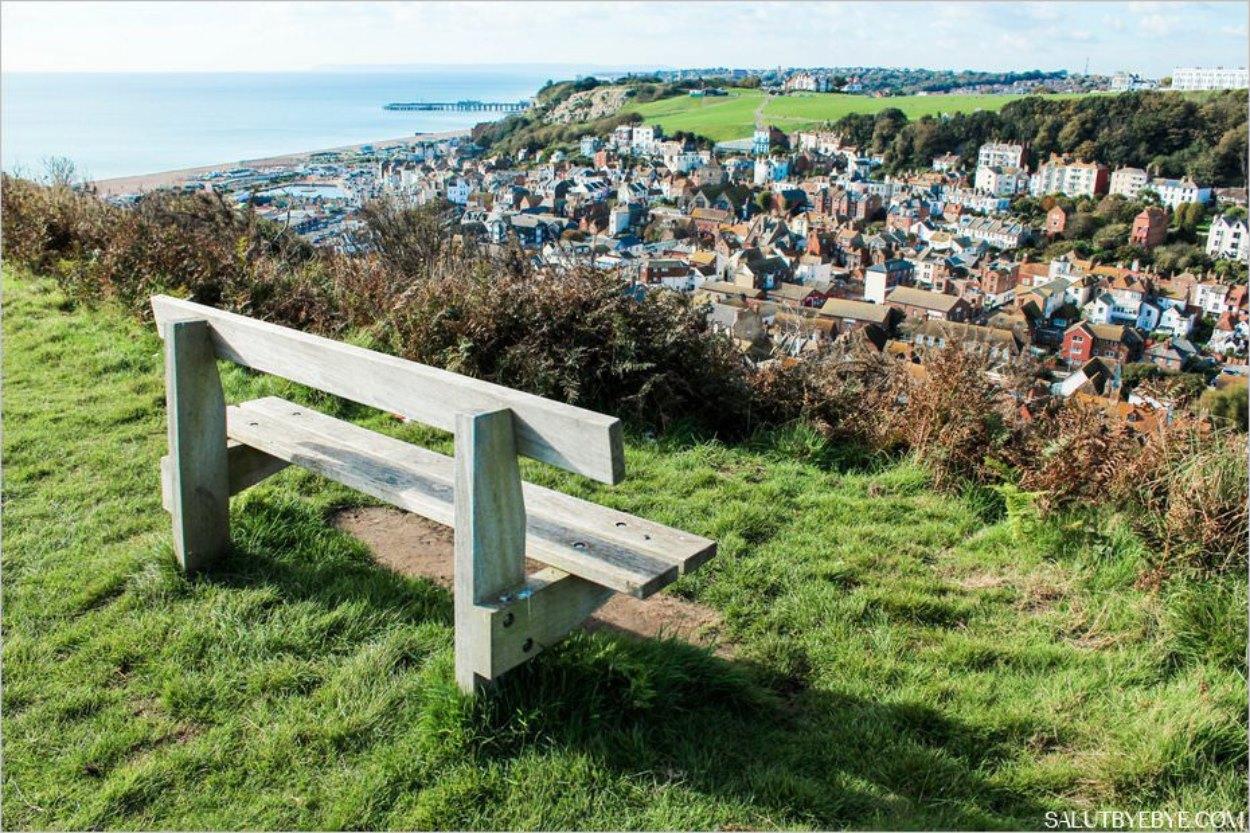 Hastings en Angleterre - Vue sur la colline Ouest