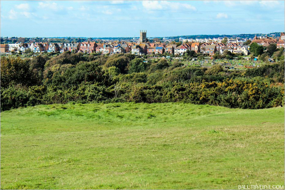Vue sur Emmanuel Church depuis le Country Park d'Hastings
