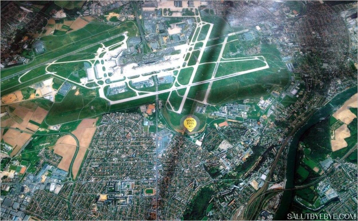 Vue aérienne de l'aéroport d'Orly