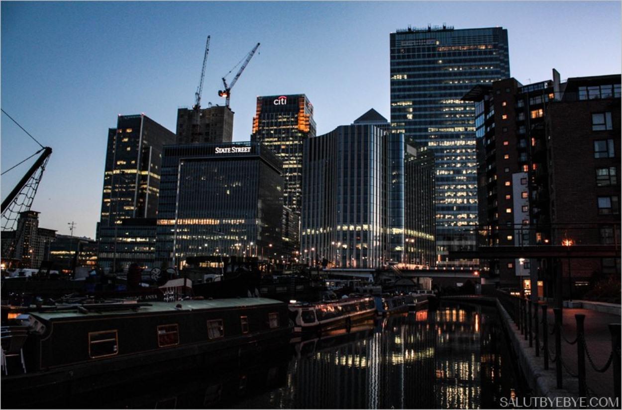 Quartier de Canary Wharf à Londres
