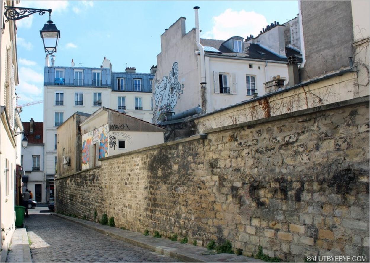 La cité Aubry à Paris 75020
