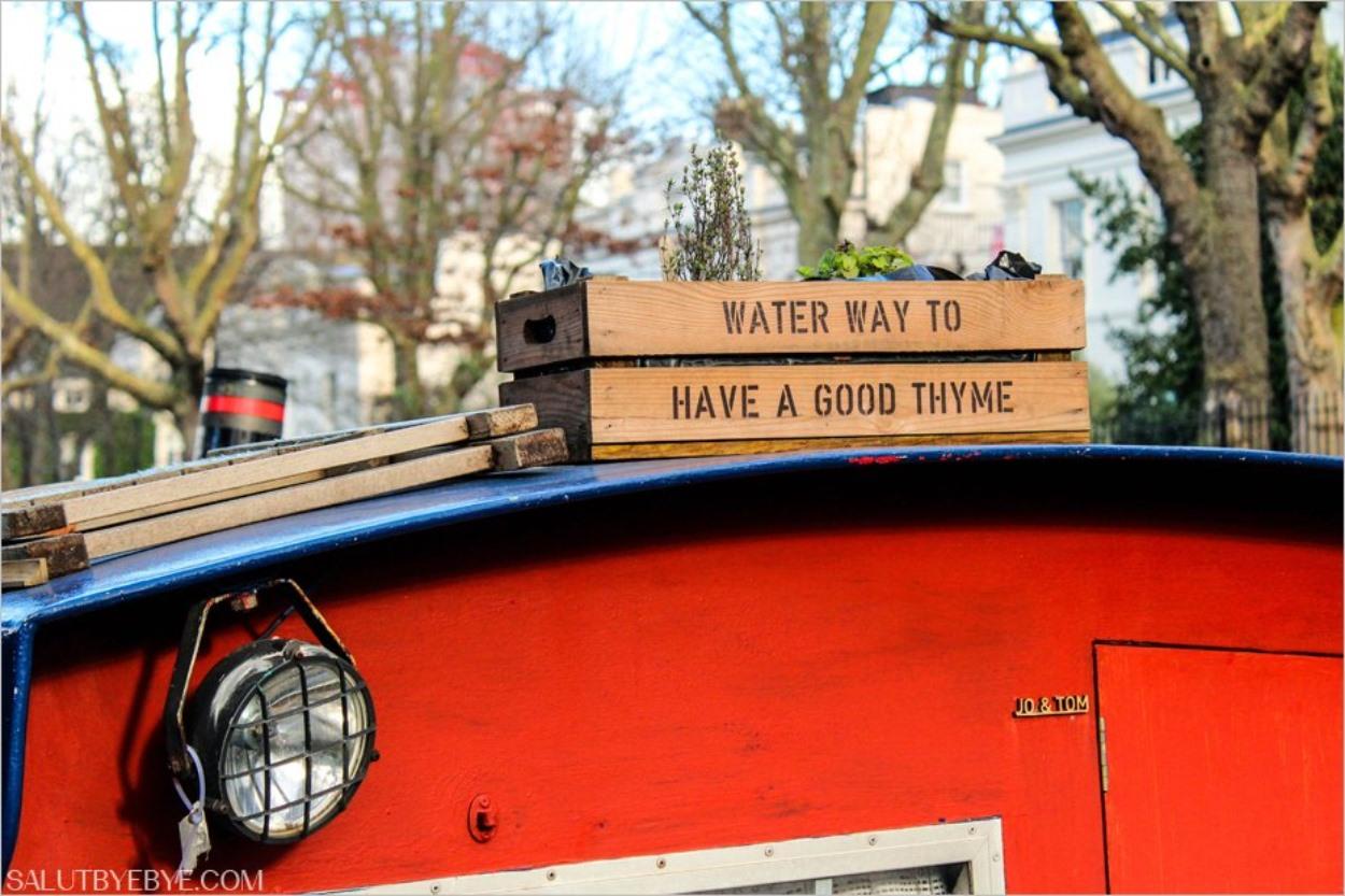 Jeu de mots sur une péniche à Little Venice