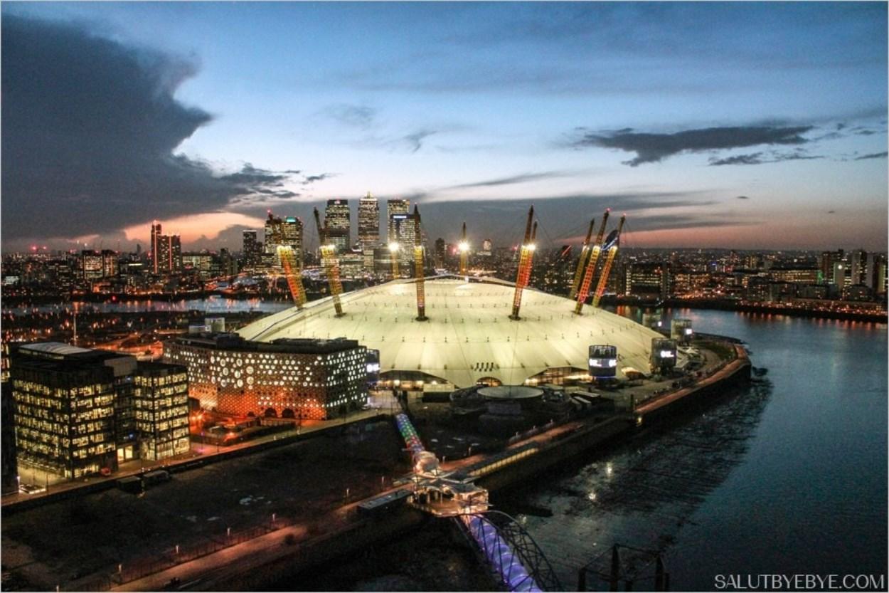 O2 Arena, Londres de nuit