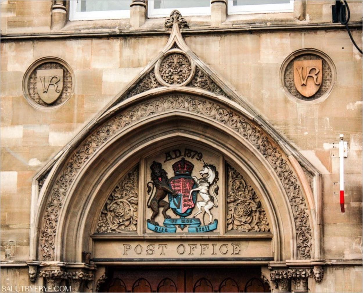 Un bureau de poste à Oxford
