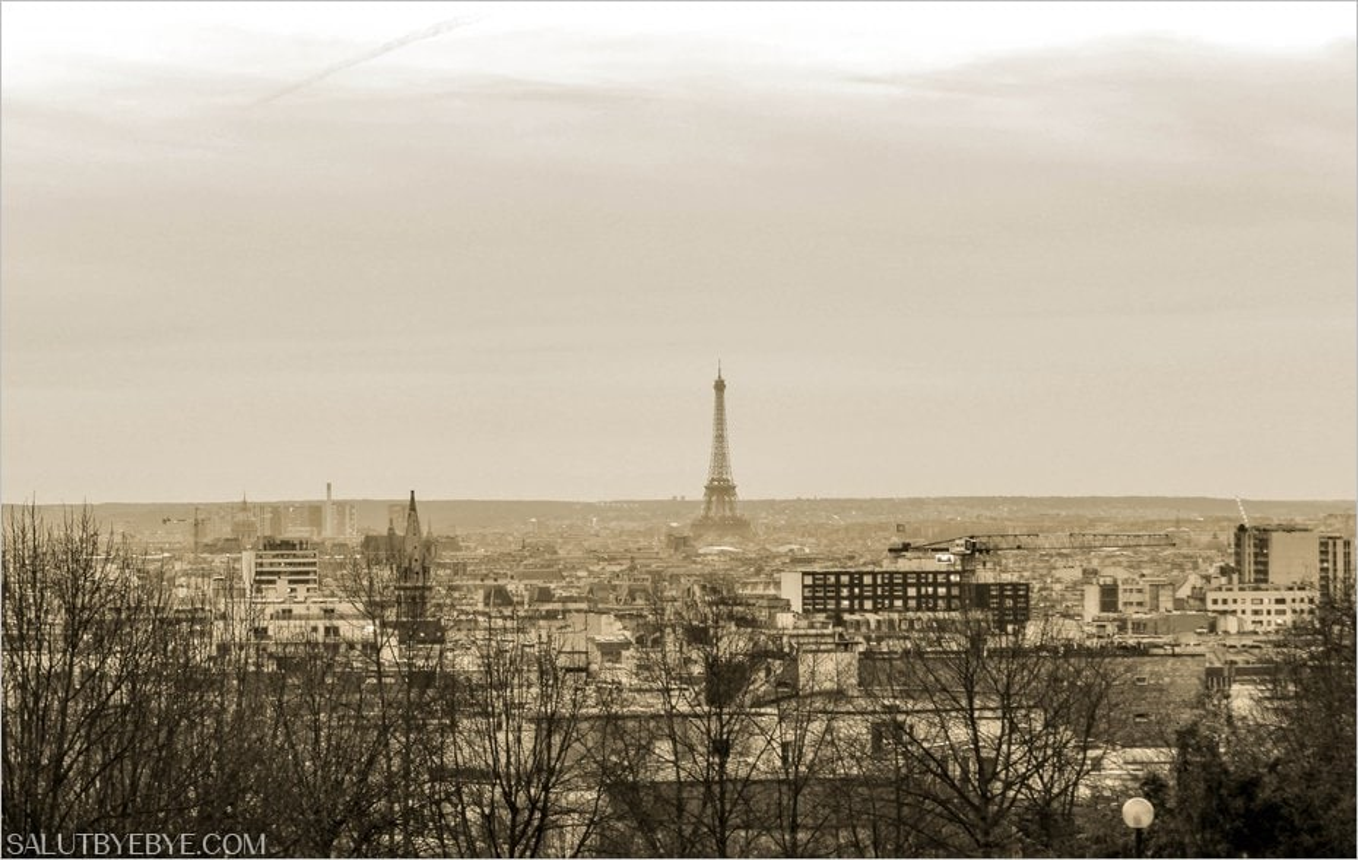 Vue de Paris depuis le Parc de Belleville