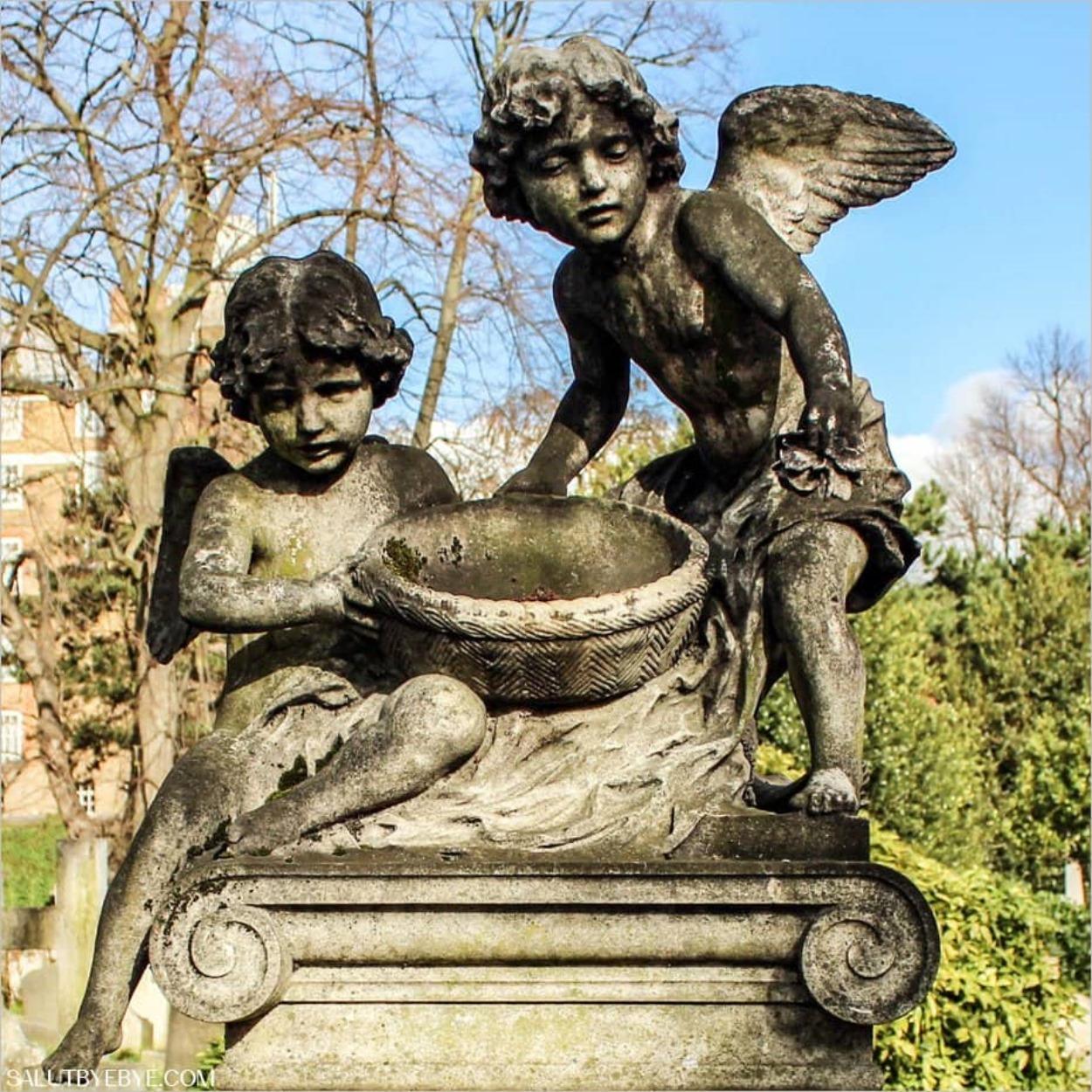 Les sculptures du cimetière de West Brompton à Londres