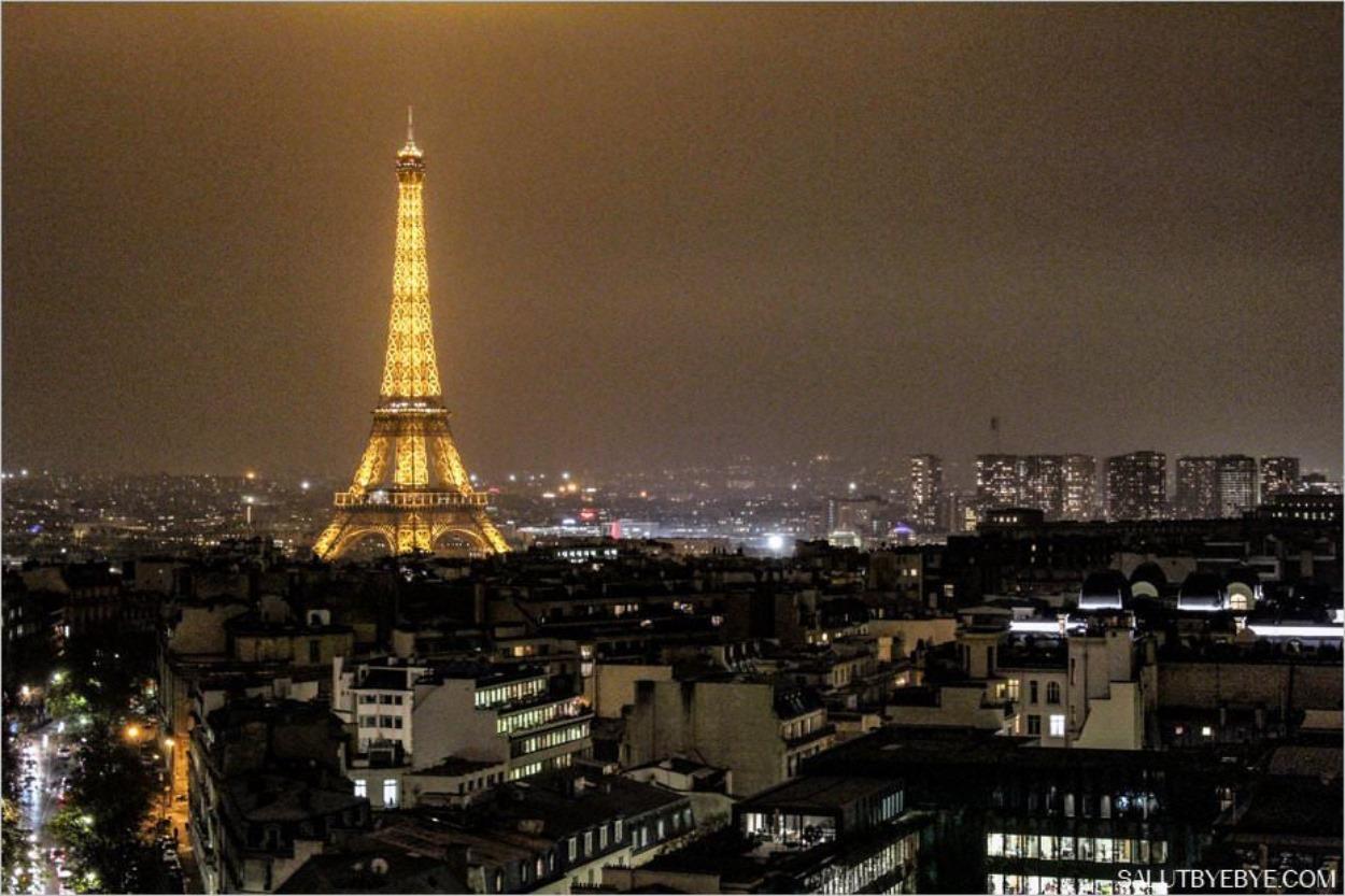 Tour Eiffel depuis l'Arc de Triomphe