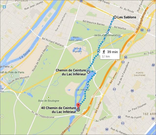 Promenade dans le Bois de Boulogne