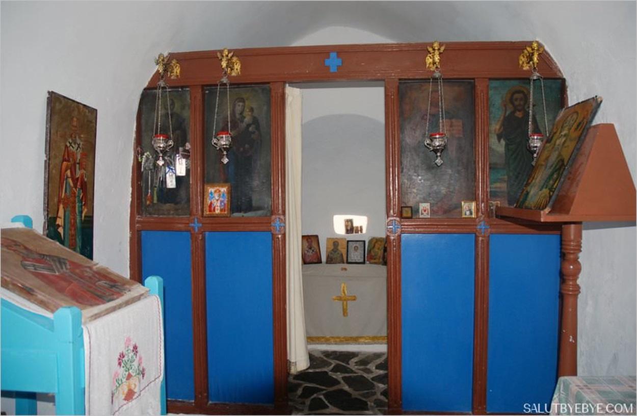 L'intérieur de la Chapelle de Georgioúpoli
