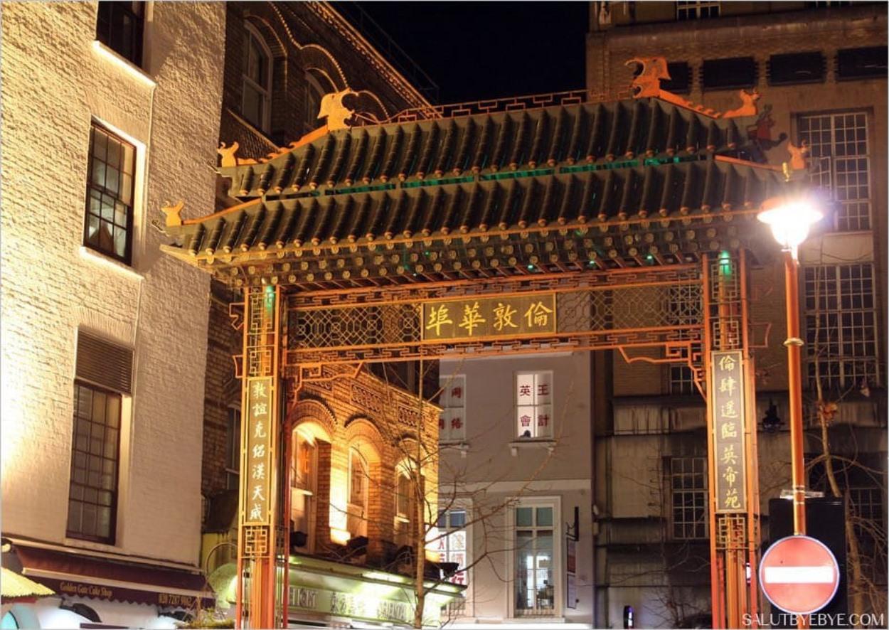 Entrée de Chinatown à Londres