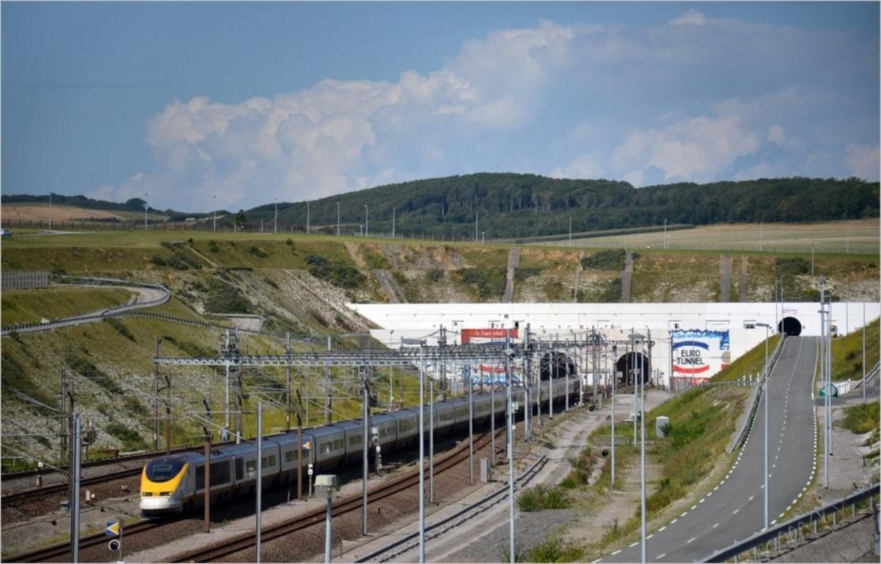 Le Tunnel sous la Manche côté français, à Coquelles