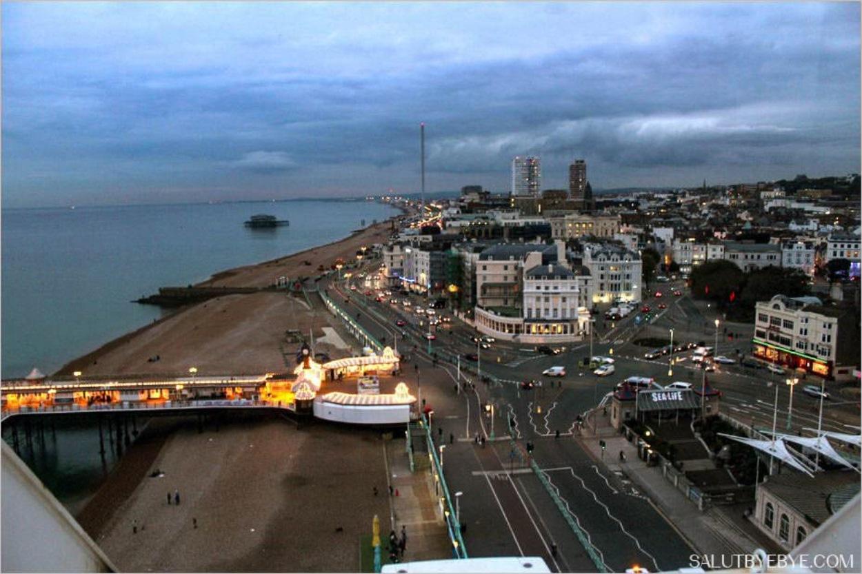Vue depuis la Brighton Wheel