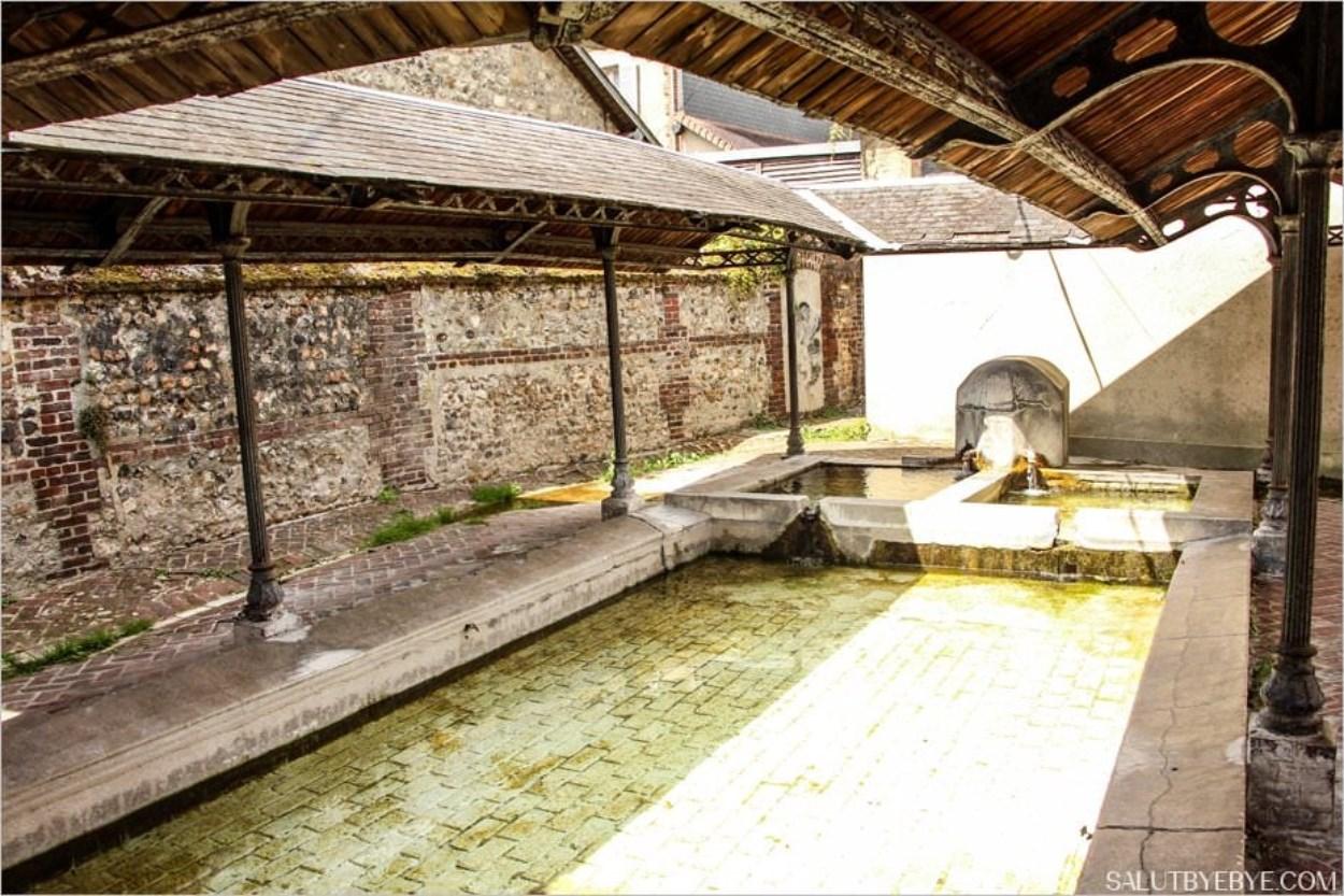 Un vieux lavoir à Honfleur