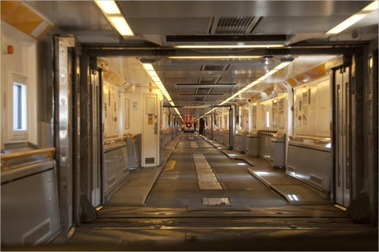 Dans une navette du Tunnel sous la Manche