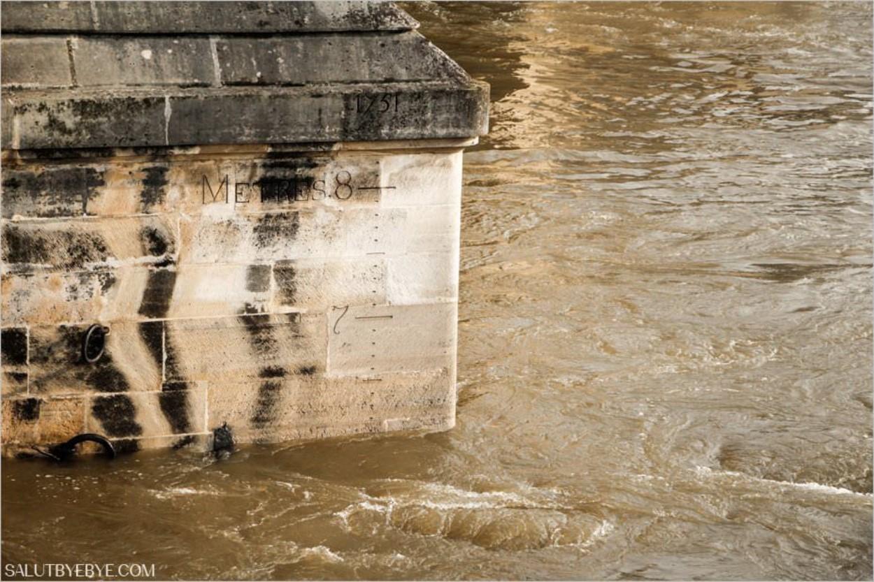 Niveau de la Seine à Paris