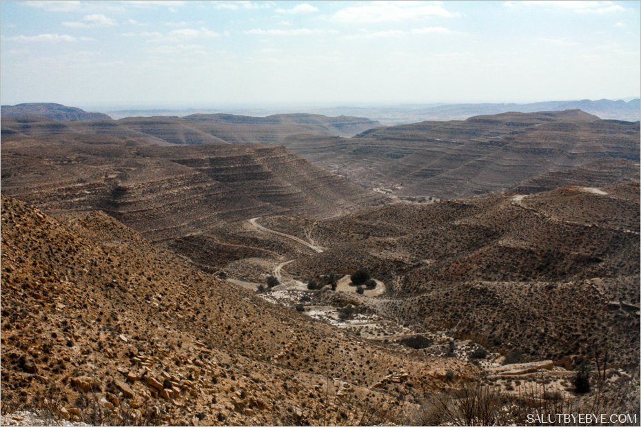 Paysage aride en Tunisie