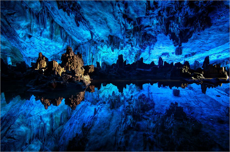 Reed Flute Cave en Chine